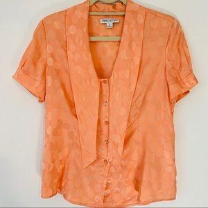 Pendleton Tie Front Silk Blend Top Size 6